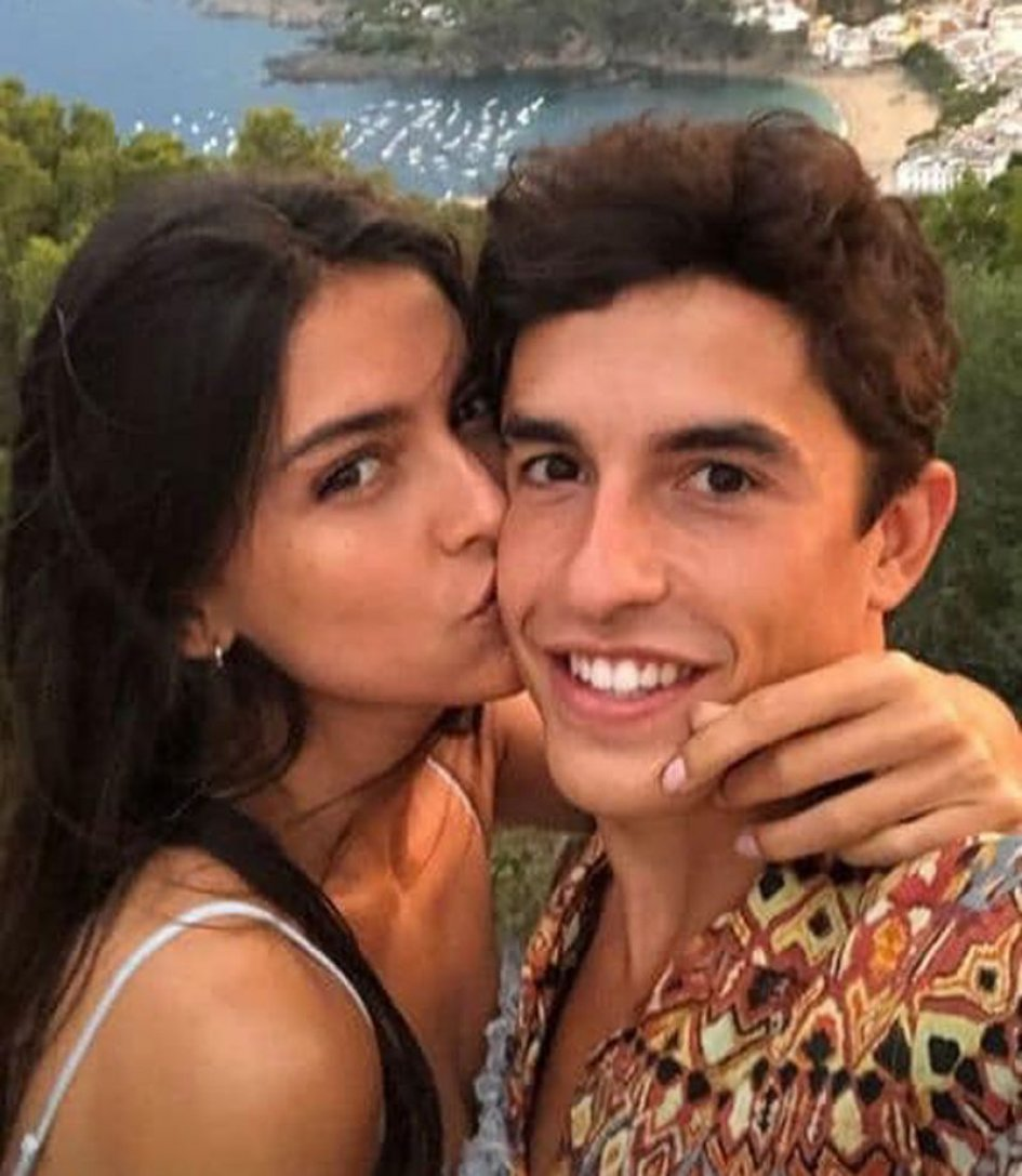 MotoGP: Holiday kissing for Marc Marquez and Lucia Rivera