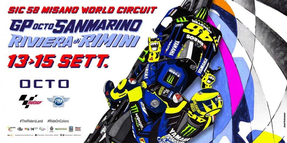 MotoGP: Misano GP dedicates its poster to Valentino Rossi