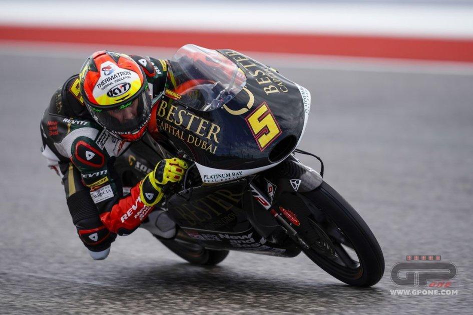 Moto3: FP3: Masia è il più veloce sul bagnato davanti a Fenati