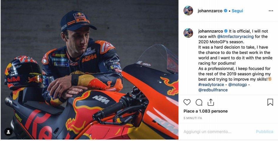 """MotoGP: Zarco: """"KTM addio, voglio correre con il sorriso e puntare al podio"""""""