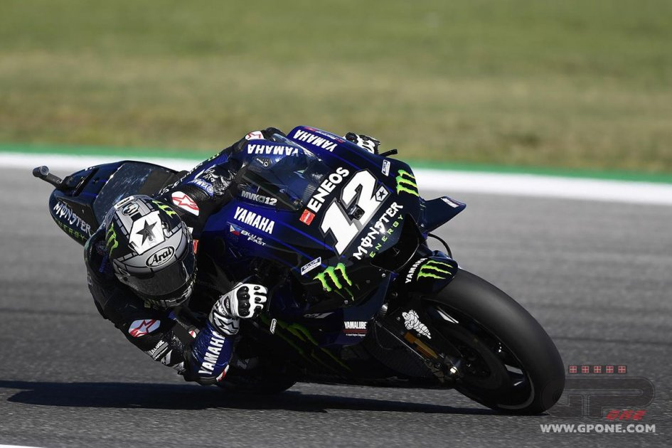 MotoGP: FP2 Aragon, Yamaha fa tris con Vinales, Rossi e Quartararo