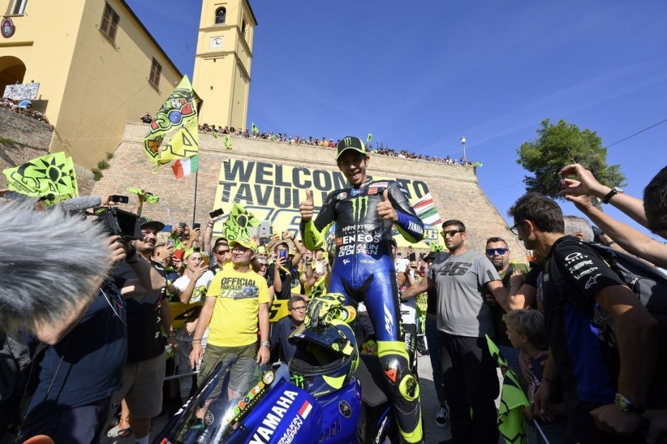 MotoGP: ALL THE PICS. Rossi's triumph on the streets of Tavullia