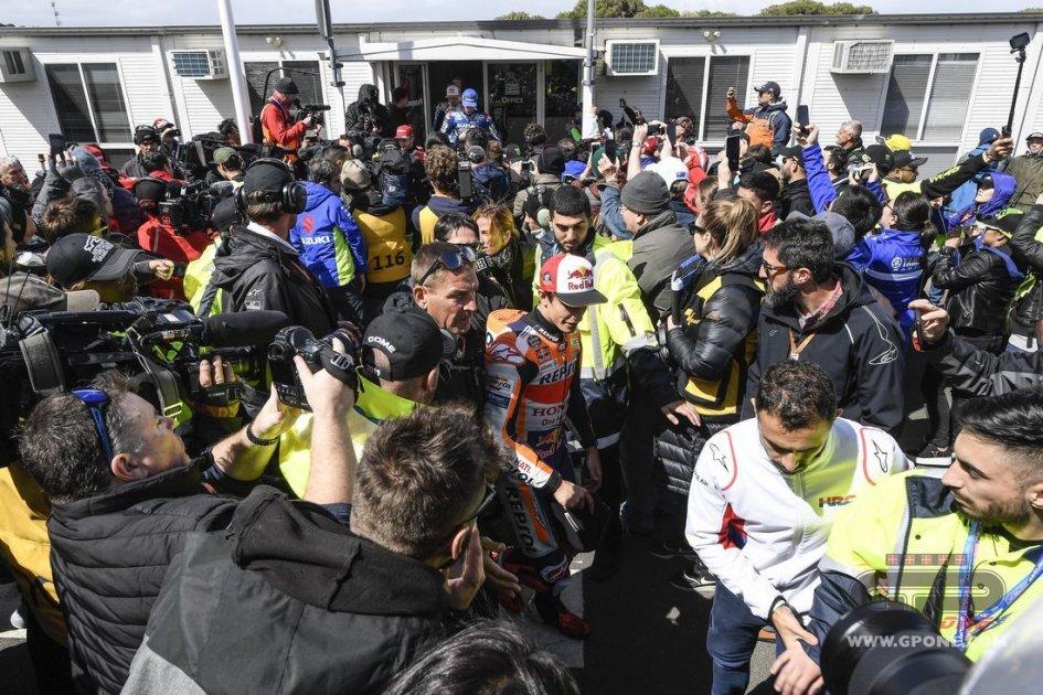 """MotoGP: Marquez: """"Con qualche rischio, si potevano disputare le qualifiche"""""""