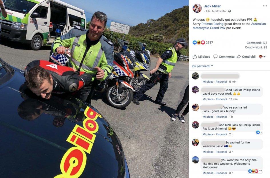 MotoGP: Solo la polizia può fermare Jack Miller a Phillip Island!