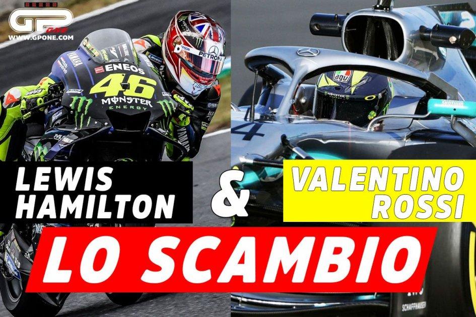 MotoGP: Valentino Rossi e Lewis Hamilton: lo scambio a Valencia il 9 Dicembre
