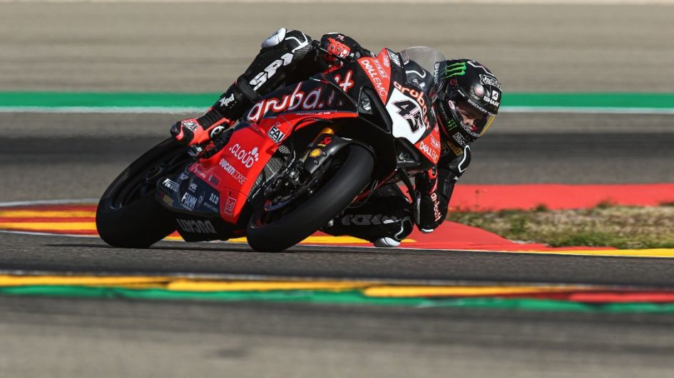 SBK: Fulmine Redding, 1° nei test di Aragon davanti a Davies