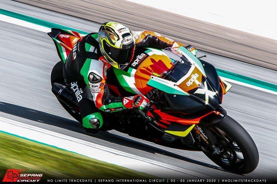 "MotoGP: Biaggi's last temptation: ""Great being on the Aprilia in Sepang."""