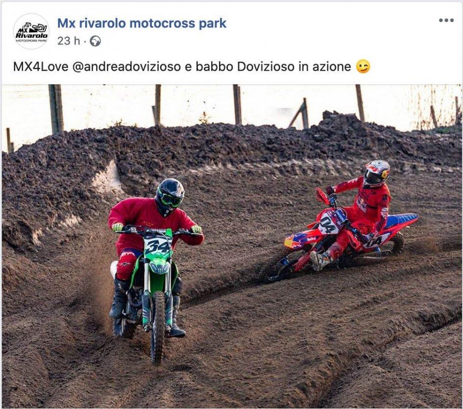 MotoGP: Dovizioso sfida Dovizioso sulla moto da cross