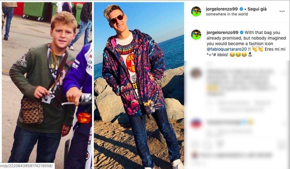 """MotoGP: Lorenzo a Quartararo: """"Si intuiva, ma adesso sei un'icona della moda!"""""""