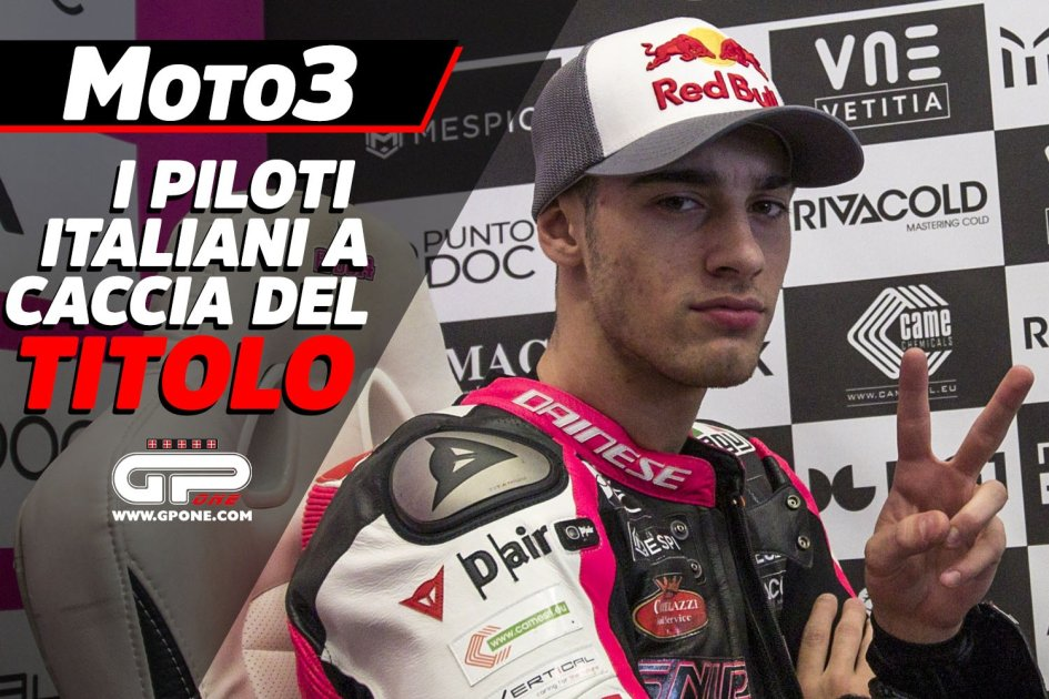 Moto3: Arbolino leads the Azzurri in the quest for the title