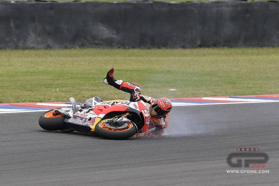 MotoGP, The crash of Marc Marquez in Argentina | GPone.com