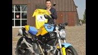 Moto - News: Livrea speciale per il Monster del ciclista Rinaldo Nocentini