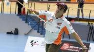 MotoGP: Marquez and Lorenzo badminton players