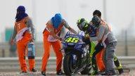 MotoGP: FOTO. La caduta di Valentino Rossi nelle FP3 in Qatar