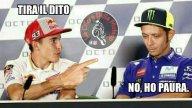 MotoGP: Rossi - Marquez a Misano: l'ironia corre sui social