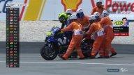 MotoGP: Sepang, le foto della caduta di Valentino Rossi