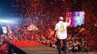 MotoGP: Marc Marquez, bagno di folla per il 7° titolo a Cervera