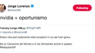 TWEET JORGE LORENZO