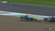 MotoGP: FOTO. L'high side di Valentino Rossi sul bagnato a Valencia