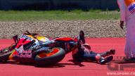 MotoGP: Le immagini della caduta di Marc Marquez ad Austin