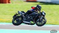 Moto - Test: Prova Video Triumph Daytona 765 Moto2, a Misano con Loris Capirossi
