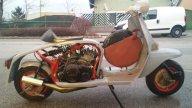 Moto - News: Lambretta con motore (2 tempi) Yamaha RD350: la follia diventa moda!