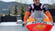 MotoGP: Pol Espargarò e Honda: prima presa di contatto... sul terrazzo di casa
