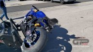SBK: Misano: paura per Ponsson, cade e lancia la Yamaha oltre le barriere