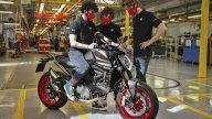 Moto - News: Ducati Monster 2021: al via la produzione della naked italiana