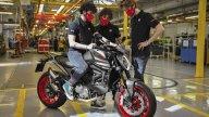 Moto - News: Ducati Monster, iniziata la produzione della nuova naked