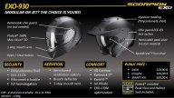 Moto - News: Scorpion EXO 930, casco modulare non solo per il mototurismo