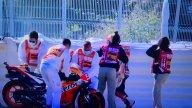 MotoGP: Marc Marquez cade nelle FP3 e distrugge la propria Honda!