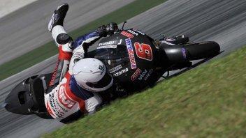 Stefan Bradl, prima caduta con la Honda