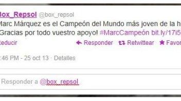 Repsol già annuncia il titolo di Marquez
