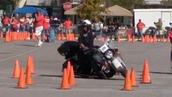 Moto - News: Texas: la gimkana con l'Electra Glide – VIDEO