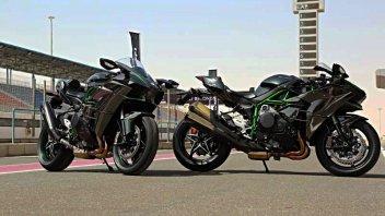 Kawasaki Ninja H2 e H2R: Caccia bombardiere