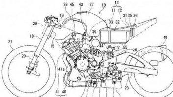 Suzuki brevetta una moto ibrida