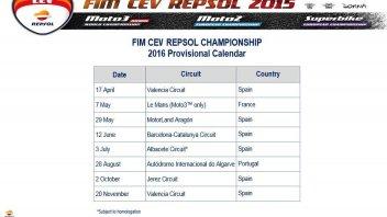 Moto - News: Ecco il calendario del CEV-Repsol 2016