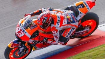 FP3: Marquez 1° con caduta, 3° Iannone