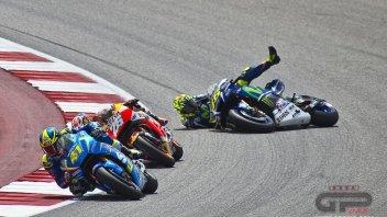 Valentino Rossi: così è caduto ad Austin
