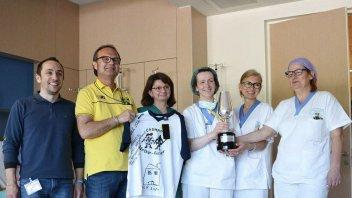 La coppa di Rossi all'Ospedale dei Bambini di Parma