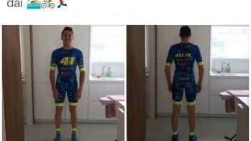 Aleix Espargarò in gara nel Triathlon di Pescara