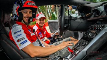 Dovi and Stoner on track together ... with a Lamborghini!