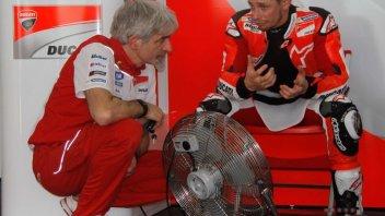 Casey Stoner in the Ducati garage at Mugello