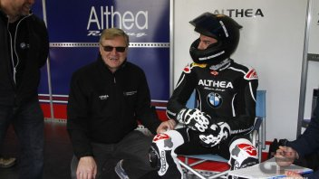 Jan Witteveen nel box del team BMW Althea