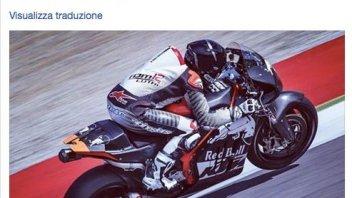 Tom Luthi test the KTM MotoGP at Mugello