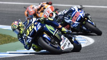 Marquez, Lorenzo and Rossi: trading places