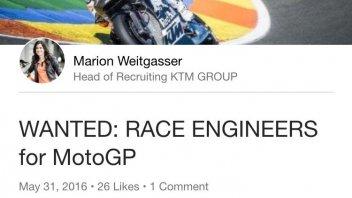 KTM a caccia di ingegneri per la MotoGP