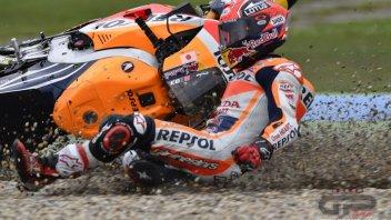 The crash of Marc Marquez in Assen