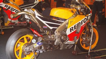 Tests: Honda tests exhaust and frame, news from Michelin